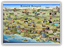 Ronald Reagan Biography Map - 2011